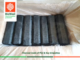 Charcoal from fuel briquettes