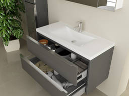 Bathroom cabinet with washbasin